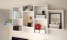 Libreria Kassi Selsey Living disponibile in 2 modelli e 3 colori Cube Shelves, Bookcase Shelves, Display Shelves, Storage Shelves, Wall Shelves, Floating Tv Cabinet, Floating Wall, Floating Shelves, Wall Cubes