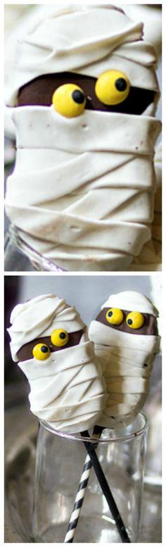 Fluffer Nutter Mummy Cookie Pops ~ Festive and fun