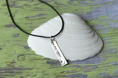 One Day Closer  Location  Metal Stamped Necklace / by DanaElyse