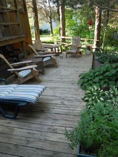 Shade garden decking