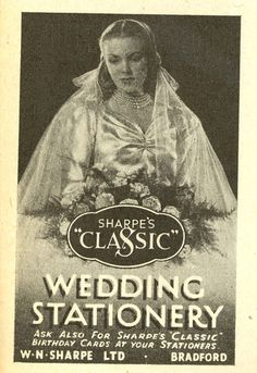Sharpes Classic Wedding Stationery - Lilliput Magazine June 1947