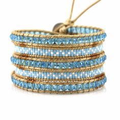 Turquoise crystals and miyuki seed beads - Vegan