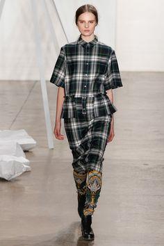 NY FALL 2013 READY-TO-WEAR  Suno  -tartan appreciation, peplum, shirting