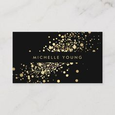 COOL & UNIQUE GOLD CONFETTI BUSINESS CARDS