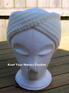 Knot Your Nana's Crochet: Camel Stitch Ear Warmer (knit look)