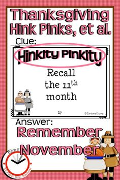 Invite your students to feast on Thanksgiving Hink Pinks, Hinky Pinkies, and Hinkity Pinkities. As they gobble up these vocabulary riddles they will learn to interpret data, make inferences, draw conclusions, & analyze new information. At the same time, you will be stuffing their brains with vocabulary, definitions, synonyms, parts of speech, and rimes. Word Riddles, Common Core Ela, Vocabulary Practice, Making Inferences, Gifted Education, Parts Of Speech, Thanksgiving Activities, Task Cards, Critical Thinking