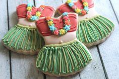 Hula Girl Cookies