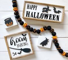 Halloween signs / hocus pocus / coffee bar / tiered tray signs | Etsy Halloween Signs, Fall Halloween, Halloween Crafts, Happy Halloween, Halloween Decorations, Halloween Ideas, Fall Decorations, Halloween Costumes, Witch Signs