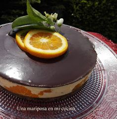 Una mariposa en mi cocina: Tarta mousse de naranja y chocolate Brownie Cake, Love Is Sweet, Bon Appetit, Nutella, Panna Cotta, Cake Recipes, Bakery, Cheesecake, Sweets