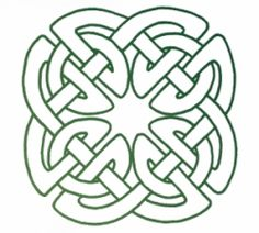 Celtic Sheild Knot - his type of Celtic knot is said to protect anyone wearing it from evil spirits or danger.