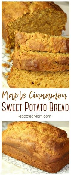 Our maple sweet potato bread blurs the line between breakfast and dessert & combines subtle spices of maple syrup, and sweet potatoes into one yummy loaf. Sweet Potato Wrap, Sweet Potato Pecan Pie, Sweet Potato Rolls, Sweet Potato Cookies, Sweet Potato Biscuits, Sweet Potato Dessert, Sweet Potato Muffins, Sweet Potato Cinnamon, Cinnamon Butter