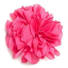 Flor de tela color Frambuesa.