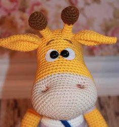 Crochet Stuff Toys Crochet naughty giraffe amigurumi pattern - To create naughty giraffe amigurumi you'll Yarn YarnArt Jeans, color Yarn YarnArt Jeans, color 50 Giraffe Crochet, Giraffe Pattern, Crochet Animals, Crochet Hook Set, Cute Crochet, Crochet Baby, Amigurumi Doll, Amigurumi Minta, Crochet Blanket Patterns