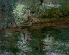 Reading by the River, c.1915 by Eliseu Visconti (Italian-born Brazilian, 1866–1944)