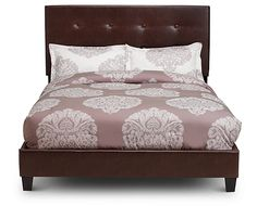 Surround yourself in smooth, elegant luxury with the Santa Monica Upholstered Bed. With the look of leather, this durably upholstered bed is made to last. Cottage Furniture, Furniture Sale, Cheap Furniture, Bedroom Furniture, Furniture Ideas, Discount Furniture, Rustic Furniture, Luxury Furniture, Luxury Bedding Collections