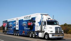 2015 Supercar season has started. One from todays outing 6 - Chaz Mostert 5 - Mark Winterbottom Heavy Duty Trucks, Big Rig Trucks, New Trucks, Western Star Trucks, Train Truck, Road Train, Australian V8 Supercars, Truck Detailing, Truck Festival