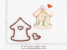 Bird Cookies, Cute Cookies, Easter Cookies, Cupcake Cookies, Plástico Biodegradable, Biodegradable Products, Tree Cutter, Fondant, Galletas Cookies