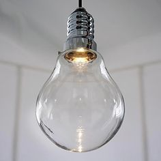 3W Modern Led Pendant Light with High-transparence Glass Bulb Shade - USD $ 129.99 Giant bulb... freakin love it