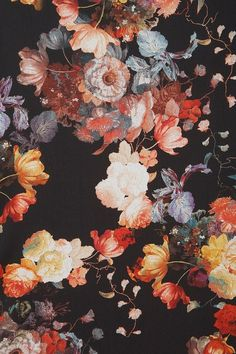 Want a dress, a shirt and a pair of trousers all made from this fabric! Beautiful dark floral pattern!
