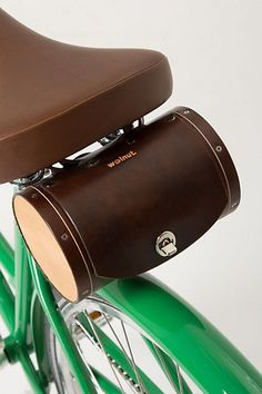 Leather & Cedar bicycle trunk ~ Anthropologie