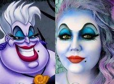 Ursula Make-up Halloween Disney - Halloween Make-up Little Mermaid Makeup, Little Mermaid Costumes, The Little Mermaid, Ursula Makeup, Fete Halloween, Halloween Make Up, Disney Villains Makeup, Disney Villian, Tinta Facial