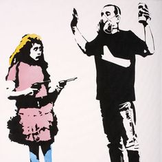 Everyone and their mother knows about Banksy; here are four other awesome graffiti artists worthy of your attention! Street Mural, Street Art Graffiti, Arte Banksy, Blek Le Rat, Beaux Arts Paris, Stencil Graffiti, Gun Art, Urban Street Art, Street Artists