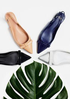 Chaussures vernies à bride arrière - Mango