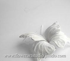 Butterfly bridal hair accessories White fabric by Flowerartstudio, $25.00