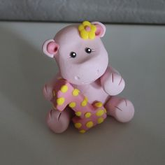 Custom Hippo Cake Topper for Birthday or Baby Shower on Etsy, $16.95