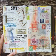 week 08。i wasn't sure what to do with this page but thanks to my lovely friends that gave me beautiful stamps and materials cause they are very useful for decorating my page. Thank you @weepingwillow84 @ang3line_l @venice_lor