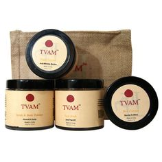 15% Off on TVAM Face Care Gift Set - Contains 5 Products: Almond & Honey Scrub-100gms, Gold peel off Mask-100gms, Sandal & Olive Day cream-50gms, Anti-Wrinkle Mantra- 50gms, Jute Zipper Gift Bag-1.