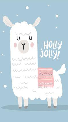 Fond d'écran lama holly jolly – - Weihnachten Wallpapers Rosa, Cute Wallpapers, Wallpaper Backgrounds, Iphone Wallpaper, Alpacas, New Year Wallpaper, Christmas Wallpaper, Images Lama, Christmas And New Year