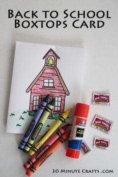Back to School Boxtops Card