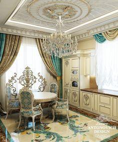дизайн кухни класса люкс Ceiling Decor, Ceiling Design, Floor Design, House Design, Mansion Interior, Blue Rooms, Luxury Decor, Luxurious Bedrooms, Dining Room Design