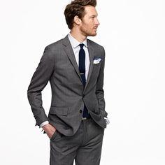 dark grey suit to match navy dresses