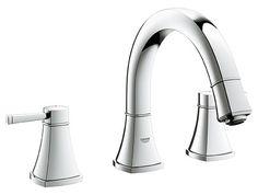 Grandera Double Handle Widespread Bathroom Faucet