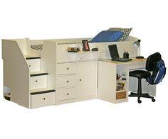 Sierra Captain's Bed with Hideaway Desk http://www.ekidsrooms.com/New_Sierra_Captain_s_Bed_with_Hideaway_Desk_p/bg22-721-xx.htm