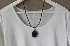 Stunning black and silver pendant