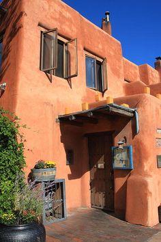 """Santa Fe, New Mexico. Adobe Building. """"The Fine Art Photography of Frank Romeo."""""""