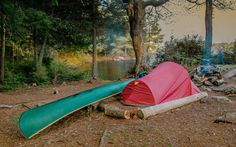 5 great places to pitch a tent in ontario's canoe country campsite, tent camping, Family Tent, Family Camping, Tent Camping, Campsite, Camping Hacks, Outdoor Camping, Outdoor Gear, Camping Ideas, Two Person Tent
