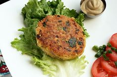 chickpea & brown rice burgers = cilantro + egg + chickpeas + rice + lime juice