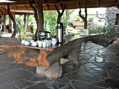 Tree trunk table - Rhulani Lodge, Madikwe Tree Trunk Table, Photo Printing Services, Photo Blanket, Photo Canvas, Print Pictures, Wood Table, Photo Book, Decorating Ideas, Patio
