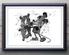 Disney Mickey Mouse Steamboat Willie Watercolor Art Poster Print - Watercolor Painting - Artwork - Home Decor - Kids Decor - Nursery Decor Casa Disney, Disney Rooms, Disney Nursery, Disney Art, Disney Stuff, Mickey Mouse Steamboat Willie, Mickey Mouse Art, Mickey Mouse Wallpaper, Minnie Mouse