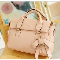 Fashion perfect dimensional bow handbag