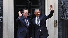 Obama and David Cameron meet at Downing Street