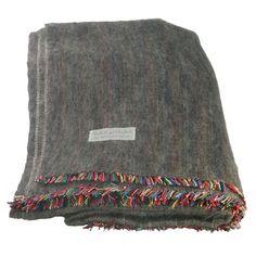 100% Alpaca Full Blanket in Charcoal