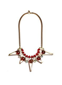 [SCHO] STAR RED COMPLEX NECKLACE