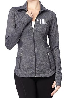 Plexus Slim Fitted Active Jacket Gray by CelebrationCity on Etsy, $35.00