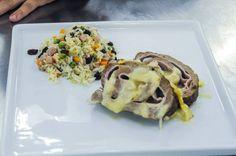 Rocambole de carne moída com arroz a grega | Ground beef roulade with rice Greek