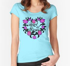 25% Women's V-Neck, Relaxed & Scoop.Use FUNTEE25.Heart of roses by augustinet